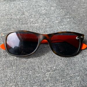 Unique RAYBAN Sunglasses, Orange and tan, Unisex!!